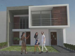 Casa Orizaba: Casas de estilo  por iMPAR taller de arquitectura