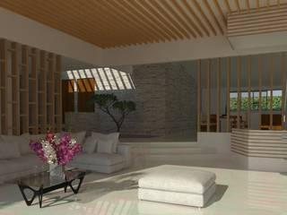 Casa en Cardel: Salas de estilo  por iMPAR taller de arquitectura