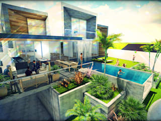 BIM STUDIO ARQUITECTOS SAC Minimalist house