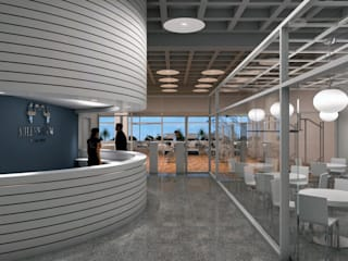 Espaces commerciaux minimalistes par OMAR SEIJAS, ARQUITECTO Minimaliste