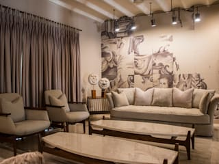 BUNGALOW- MR.ANURAG GOYEL Country style living room by DESIGNER'S CIRCLE Country