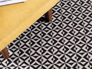 Teppich Modern Geometric Black:   von Dekoria GmbH