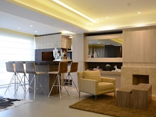 Ruang Keluarga Modern Oleh Fernanda Amorim Arquiteta Modern