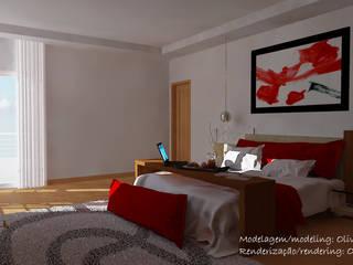 Modelagem de quarto:   por Oliveira 3D design,Moderno