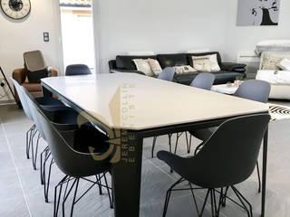 Table à manger Origademi Corian et Acier sur mesure par Jeremy Collin Ebeniste - créateur Moderne