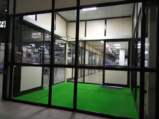 Inter-lock Automatic Door System in shop floor at one of the Client Manufacturing Facility:   by LEOtech Automation