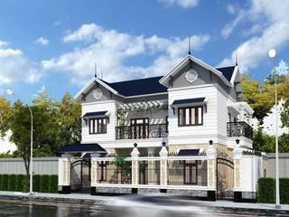 Casas estilo moderno: ideas, arquitectura e imágenes de Công ty Kiến trúc Á Âu Moderno