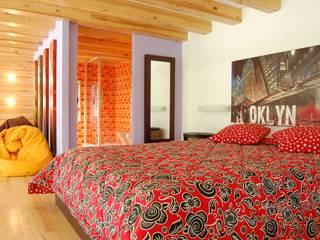 RUSTICASA Modern style bedroom Wood Wood effect
