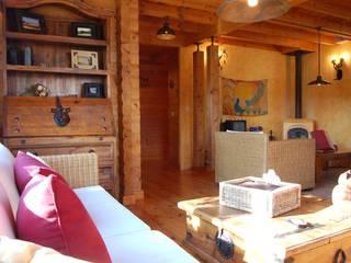 Phòng khách phong cách mộc mạc bởi Rusticasa Mộc mạc Than củi Multicolored