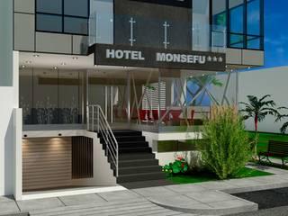 Proyecto Arquitectónico Comercial - Hotel: Hoteles de estilo  por EPG  Studio