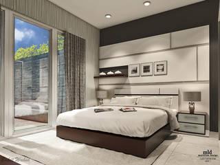 Quartos minimalistas por Multiline Design Minimalista