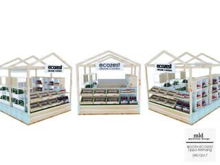 Espaços comerciais rústicos por Multiline Design Rústico