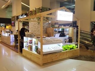 Booth Ecozest - Kemang Village Ruang Komersial Gaya Rustic Oleh Multiline Design Rustic