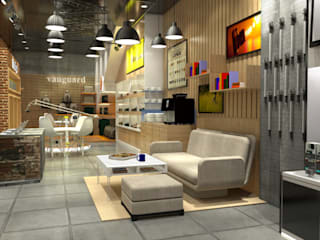 Digital One Stop Solution - Jakarta Kantor & Toko Gaya Industrial Oleh Multiline Design Industrial