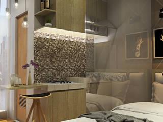 Multiline Design Camera da letto minimalista