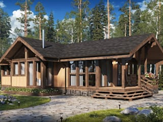 Casas de campo de estilo  por Naturi