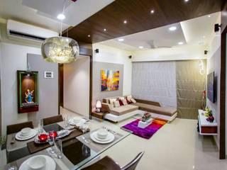 Sitting area:  Living room by Vinayak Interior | Interior Designing and Decorator Companies