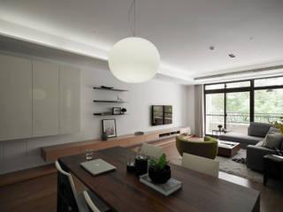 Salle à manger moderne par 沐禾設計事務所 Moderne