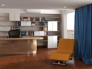 Nhà hướng Tây Phòng học/văn phòng phong cách hiện đại bởi Lam Hung Nguyen Hiện đại