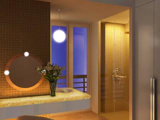 Nhà hướng Tây Phòng tắm phong cách hiện đại bởi Lam Hung Nguyen Hiện đại