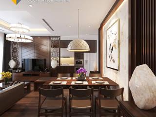 Thiết kế Chung cư Vinhomes – Chị Hiền:  Phòng ăn by Công ty CP Kiến trúc V-Home,