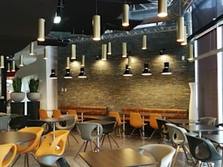 restaurant Angers Salle à manger moderne par ATELIER KA-HUTTE Moderne