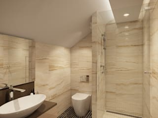House in Tomsk Modern style bathrooms by EVGENY BELYAEV DESIGN Modern