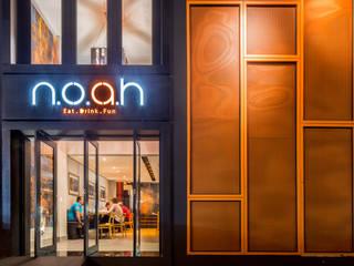 Restaurante Noah: Espaços gastronômicos  por Mooca Arquitetos Associados,Industrial