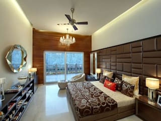luxury floors Modern style bedroom by Evershine construction Modern