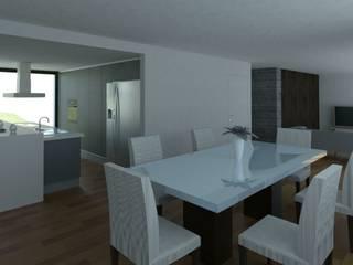 Moradia Unifamiliar Torres Novas Salas de jantar modernas por ARQUITECTOSRT Moderno