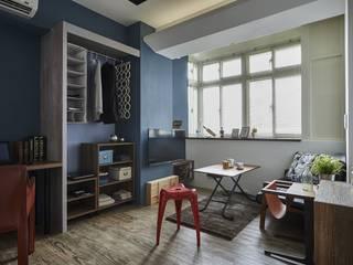 樑線修飾:  客廳 by 第宅空間設計