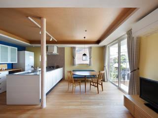 向陽台の家 モダンデザインの ダイニング の 樋口章建築アトリエ モダン