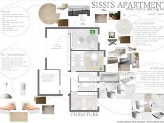 Projecto de Interiores - Sissi's Apartament: Quartos  por Marta Zita Peixoto - Arquitectura,Moderno