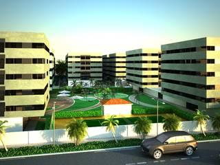 """Condomínio Habitacional """"Parque dos Príncipes"""" : Condomínios  por Marta Zita Peixoto - Arquitectura,Moderno"""