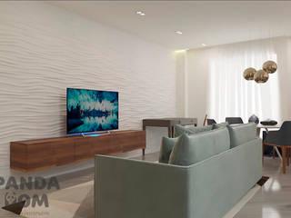 """Современная квартира в """"Виленском маентке"""". Modern appartment. Гостиная в стиле модерн от дизайн-студия PandaDom Модерн"""