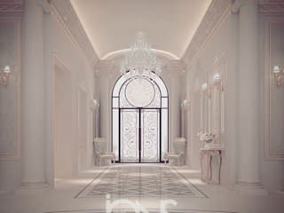 Stylish and Lasting Entrance Design Ideas IONS DESIGN Classic style corridor, hallway and stairs Marble White