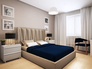 Apartment in Tomsk EVGENY BELYAEV DESIGN ห้องนอน