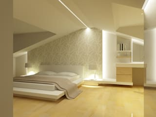 Minimalist bedroom by tizianavitielloarchitetto Minimalist