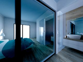 MBquadro Architetti Modern bathroom