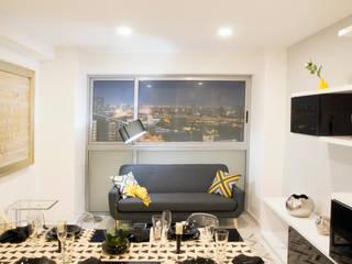 Departamento San Pedro: Salas de estilo moderno por Alameda Estudio