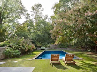 Shelter Island Country Home:  Garden Pool by andretchelistcheffarchitects
