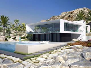 Вилла на пляже в Испании. Дома в стиле минимализм от ALEXANDER ZHIDKOV ARCHITECT Минимализм