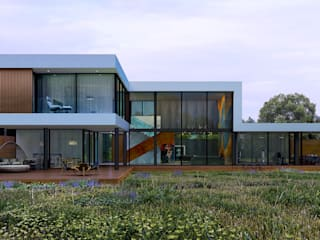 Дом на реке Клязьма от ALEXANDER ZHIDKOV ARCHITECT Минимализм