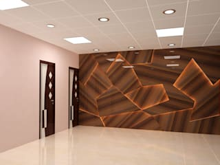 Tata Steel Rural Development Society (TSRDS, Kalinganagar) Modern office buildings by Falcon Resources Modern