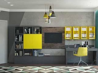 Дизайн однокомнатной квартиры Гостиная в стиле модерн от Арт-Идея Модерн