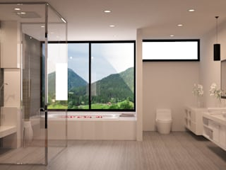 okull creativo Minimalist style bathrooms