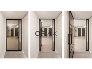서현동 동양파크빌 / 30평형 아파트 인테리어: 오락디자인의  복도 & 현관