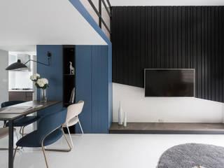 Livings de estilo moderno de 寓子設計 Moderno