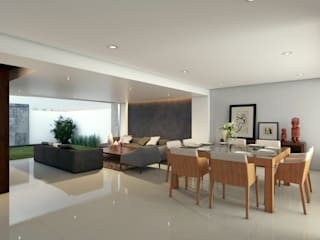 Living room by SYD CONSTRUCTORES