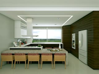 Modern dining room by SYD CONSTRUCTORES Modern